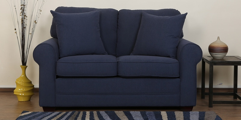 Madeira Two Seater Sofa in Navy Blue Colour by CasaCraft
