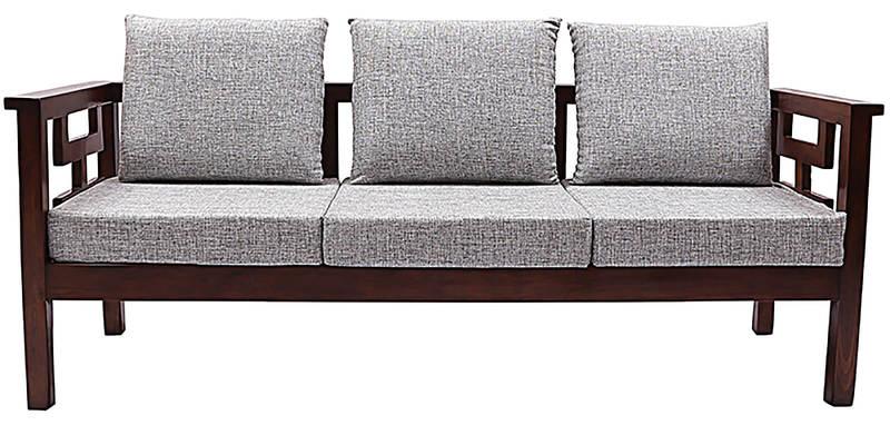 Buy Mariana Teak Wood Sofa Set  Seater +  Seater +  Seater in