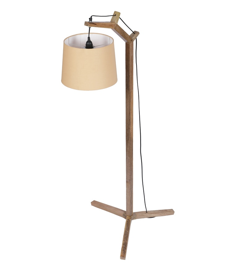 Buy Alpine Mango Wood Floor Lamp In Natural Finish By