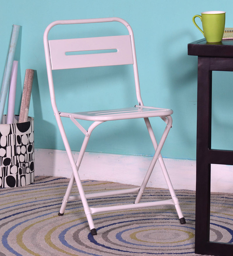 Marandoo Grunge White Outdoor Folding Chair by Bohemiana