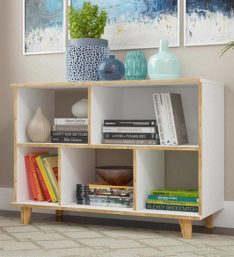 c1b1df1058 Buy Wall Shelf with Sliding Door in White Colour by Afydecor Online ...