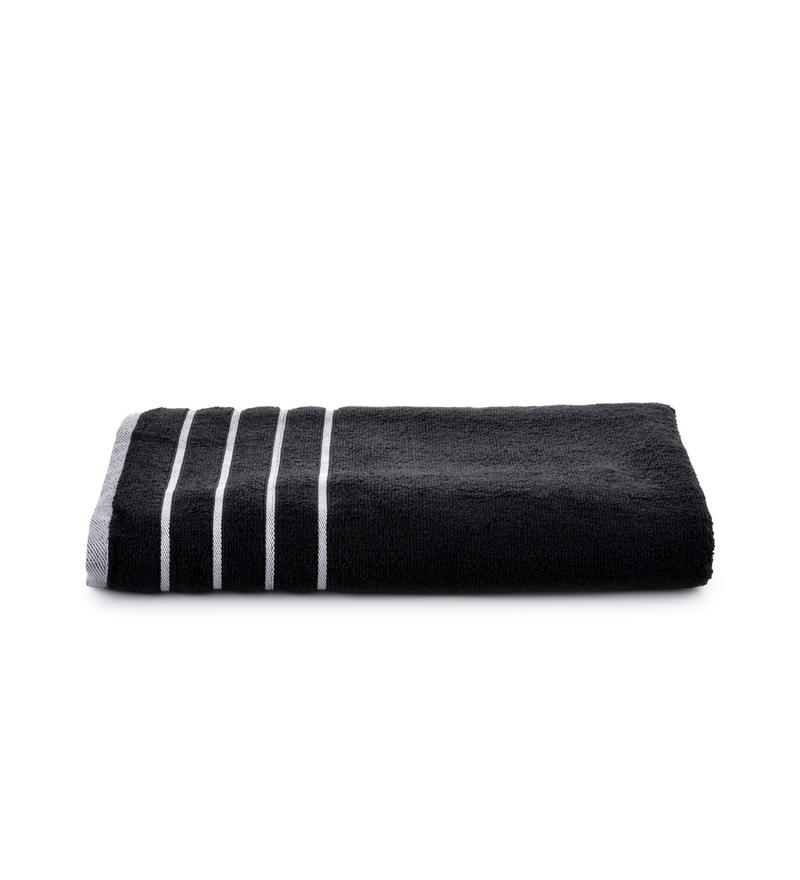 Black Cotton Simply Soft 28 x 59 Bath Towel by Mark Home