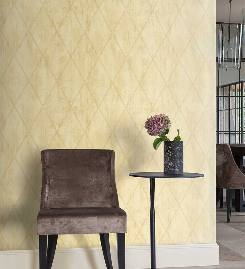Beige Non Woven Fabric Checkered Wallpaper by Marshalls WallCoverings