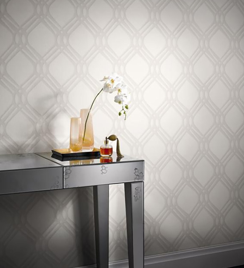 Grey Non Woven Fabric Abstract Print Wallpaper by Marshalls WallCoverings