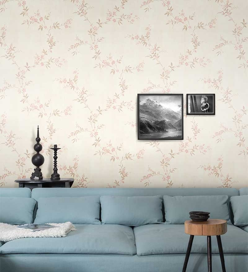 Cream Non Woven Fabric Wallpaper by Marshalls WallCoverings