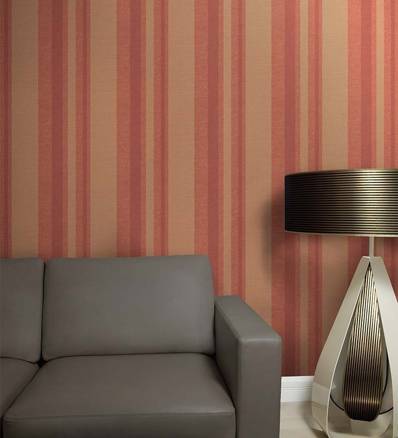 Multicolour Non Woven Fabric Striped & Checkered Wallpaper by Marshalls WallCoverings