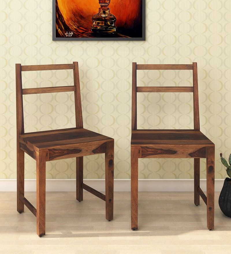 Exceptionnel Martina Solid Wood Dining Chair (Set Of 2) In Rustic Teak Finish By  Woodsworth