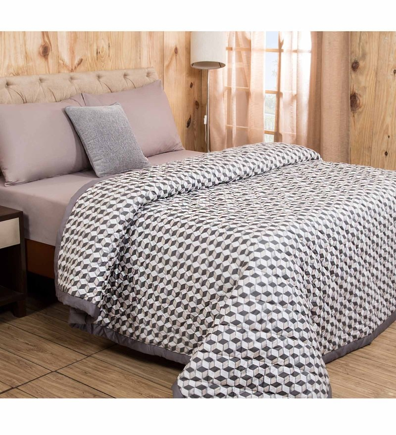 Maspar Natural Cotton And Polyester 102 x 90 Inch Clarissa Mirage Double Quilt