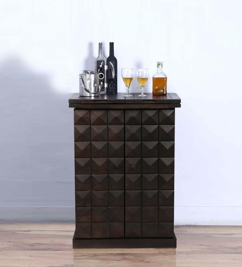 Mayville Small Bar Cabinet in Warm Chestnut Finish by Woodsworth