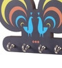 Multicolour MDF Peacock Key Holder by Mad(e) in India