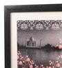 Mad(e) in India Paper & Glass 12 x 0.5 x 12 Inch Taj on River Framed Digital Art Print