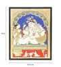 Madhurya Multicolour Gold Plated Butter Krishna Framed Tanjore Painting