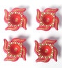 Manomay Kreations Multicolour Clay Hand Painted Diwali Diya - Set of 4