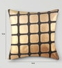 Brown Duppioni 16 x 16 Inch Checkered Cushion Cover by Mapa Home Care
