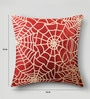 Mapa Home Care Red Duppioni 16 x 16 Inch Sequined Work Cushion Cover