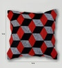 Mapa Home Care Red Duppioni 16 x 16 Inch Silk Patchwork Cushion Cover