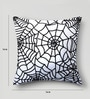 Mapa Home Care White Duppioni 16 x 16 Inch Silk Sequined Work Cushion Cover