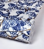 Blue Non Woven Fabric Floral Print Wallpaper by Marshalls WallCoverings