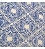 Blue 100% Cotton King Size Bed Sheet - Set of 3 by Maspar