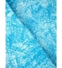 Circumvent Blue Printed 1 Double Bed Sheet with 2 Pillow Covers by Maspar