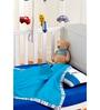 Maspar Blue Cotton Stripes and Checks 3-piece Baby Bed Set