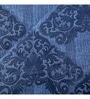 Blue Fabric Queen Size Quilt by Maspar