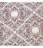Brown 100% Cotton King Size Bed Sheet - Set of 3 by Maspar