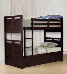 McLuis Bunk Bed With Pull Out Bed In Wenge Finish