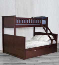 McTaylor Bunk Bed (Single & Queen) With Pull Out Bed In Wenge Finish
