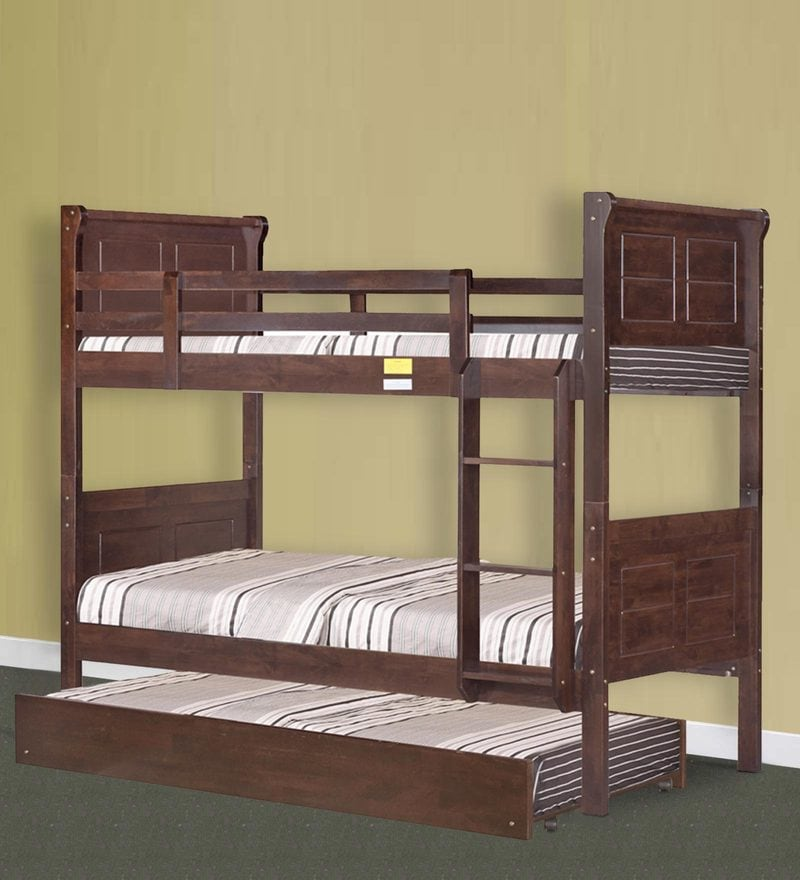 McAlfred Bunk Bed with Pull-Out in Cappuccino by Mollycoddle
