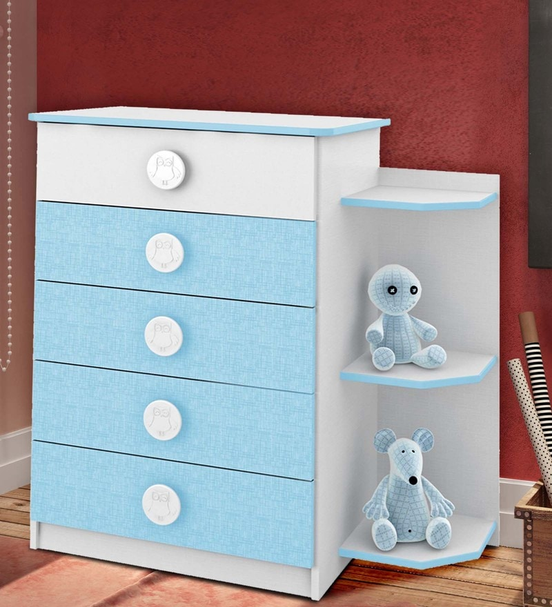 McJoe Chest of Five Drawers in Sea Blue by Mollycoddle