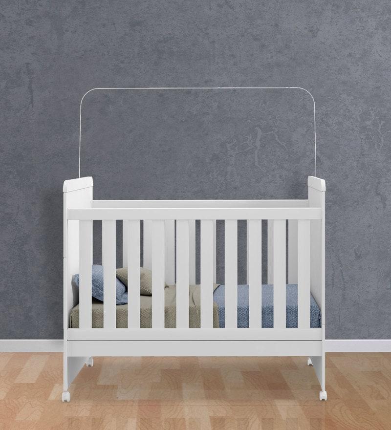 McSilvie Baby Crib in Satin White by Mollycoddle