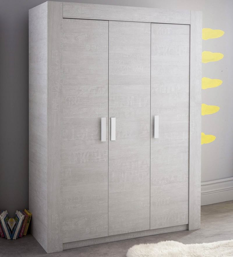 McZuriel Three Door Wardrobe in Bristol Oak Finish by Mollycoddle