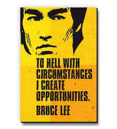 MDF Bruce Lee - To Hell With Circumstances Fridge Magnet