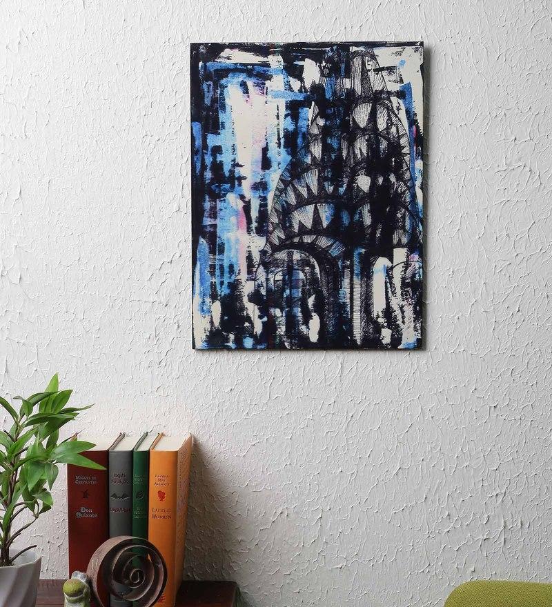 MDF 15.4 x 12 x 0.2 Inch Jubel Unframed Wall Hanging by Reflete