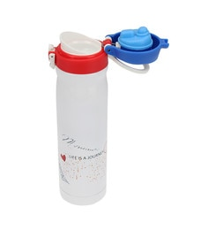 Merahomestore Life Is A Journey Cream Stainless Steel 500 ML Insulation Flask