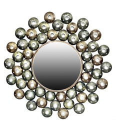 Metallic Green W-Round Star Iron Mirror