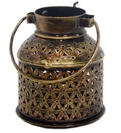 Metallic Iron Lota Shape Candle Holder