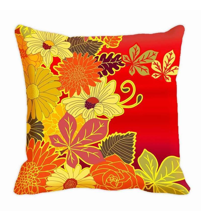 Red Satin 16 x 16 Inch Cushion Cover by Me Sleep