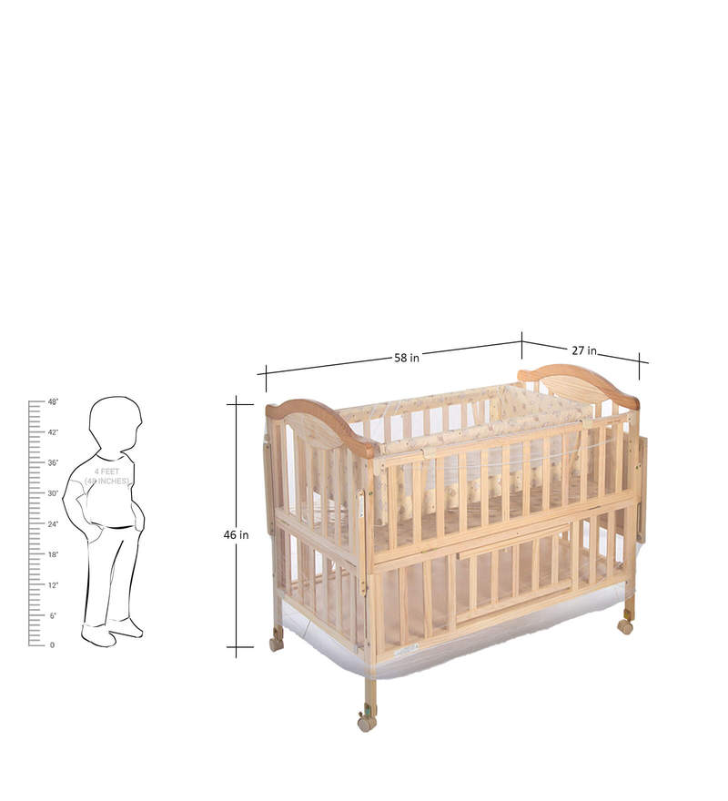 Buy Wooden Cot with Swing   Mosquito Net by Mee Mee Online - Cradles ... 42ec59bcc