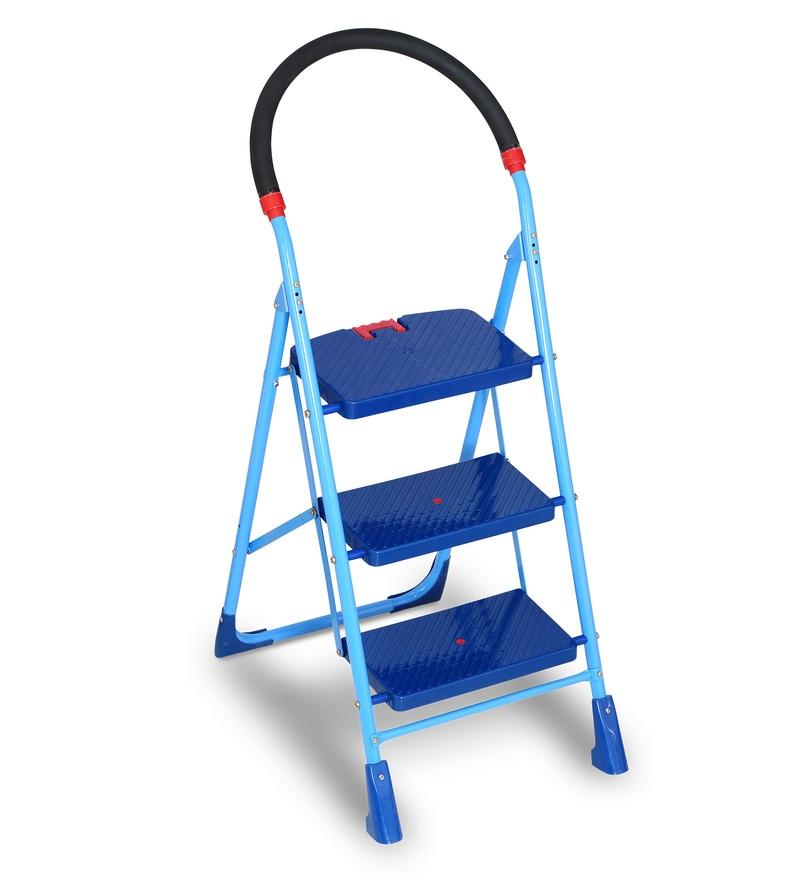 Blackstallion Top Stainless Steel & Plastic 3 Steps 4 FT Ladder