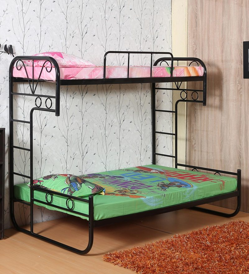 Metallic Bunk Bed In Black Colour By FullStock
