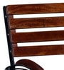 Mexico Folding Garden Set with Armrest in Provincial Teak Finish by Woodsworth