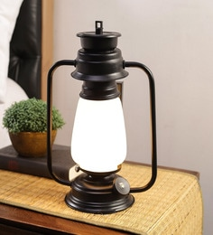 Milky White Glass Lantern Frosted Table Lamp By New Era - 1672711