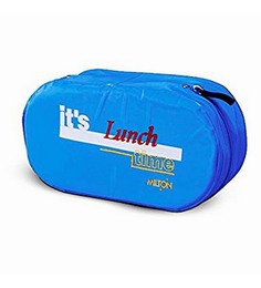 Milton Circular Container Blue Plastic Lunch  Box - Set Of 2