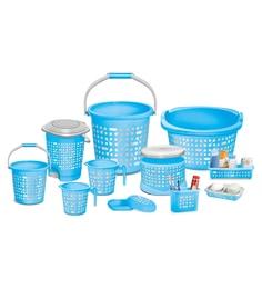 Milton Sr. Dumbells Blue Clean Up Bathroom Set - Set Of 11