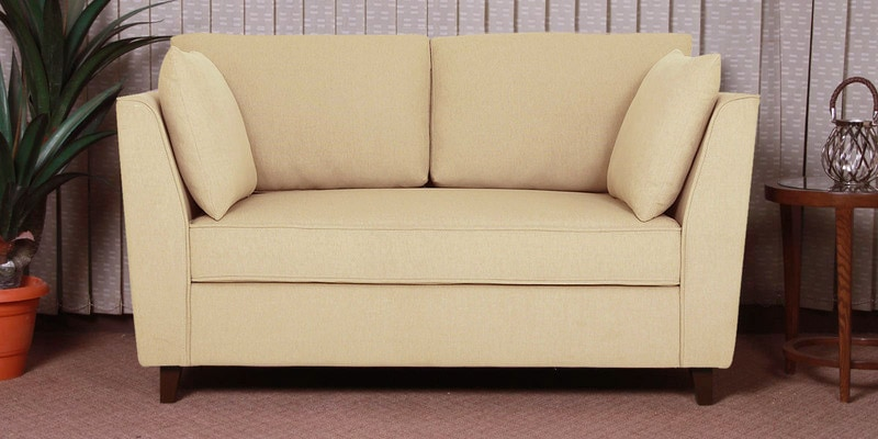 Miranda Two Seater Sofa in Beige Colour by CasaCraft
