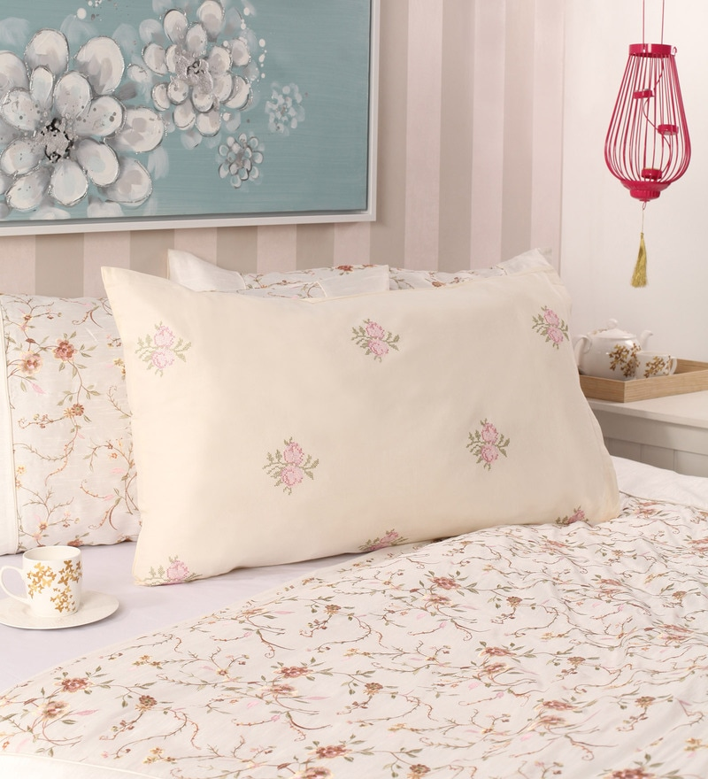 Cream Cotton 19 x 30 Pillow Cover by Milano Home