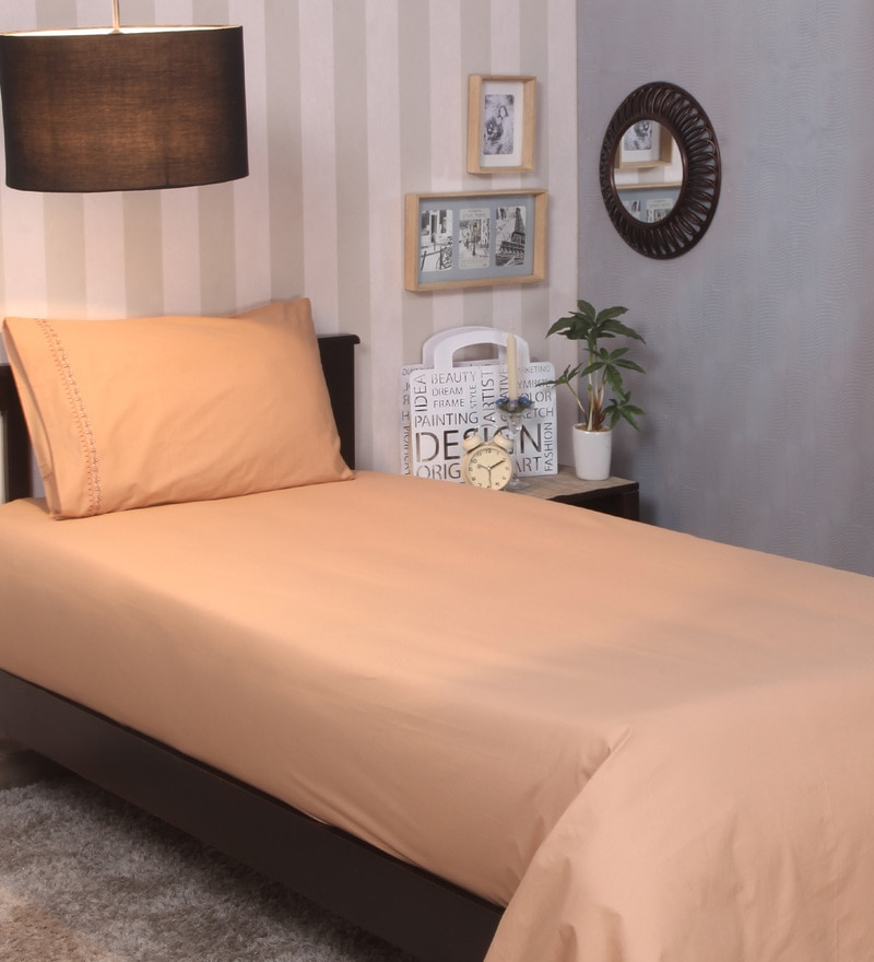 Golden Cotton Single Size Bedsheet by Milano Home