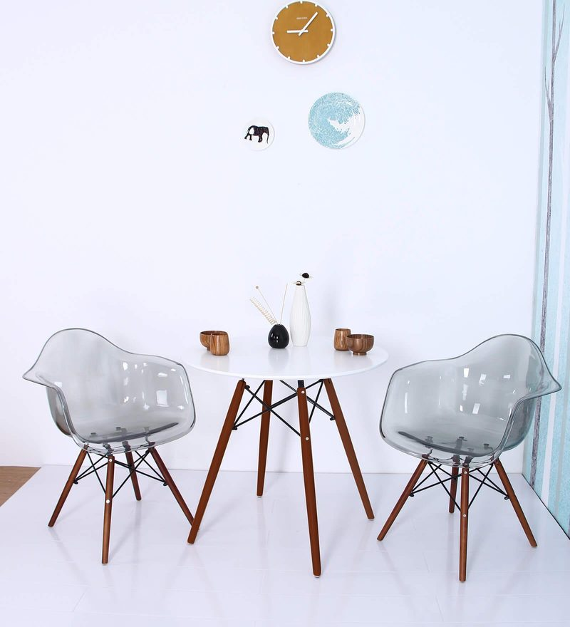 Mineko Accent DSW Eames Replica Plastic Chair (Set of 2) in Smoke Colour by Mintwud